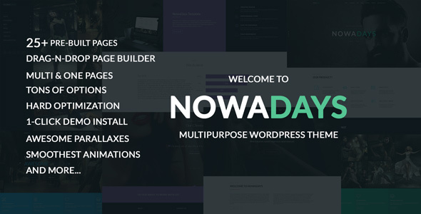 NowaDays v1.5.3 – Multipurpose One/Multipage WordPress Theme