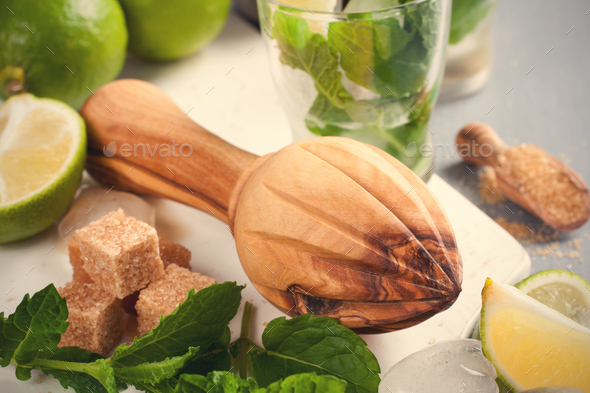 Ingredients for making mojitos. - Stock Photo - Images