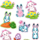 Easter Stickers with Bunny - GraphicRiver Item for Sale