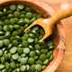 Green chlorella pills or green barley pills in bowl. - PhotoDune Item for Sale