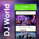 NEW ! DJ Event Booking App UI Kit | DJ World - GraphicRiver Item for Sale