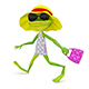 3D Illustration of a Frog in Sundress - GraphicRiver Item for Sale