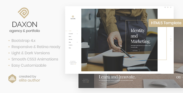 Daxon - Agency & Portfolio HTML5 Template