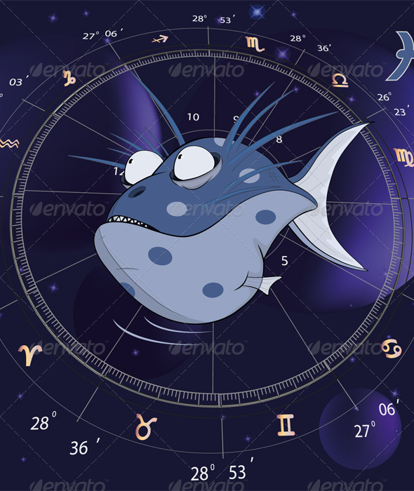 Pisces Zodiac Sign Fish - Animals Characters
