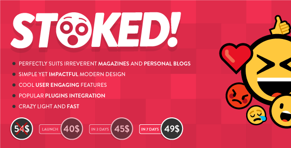 Stoked! – Irreverent Viral Magazine/News and Personal Blog WordPress Theme Free Download