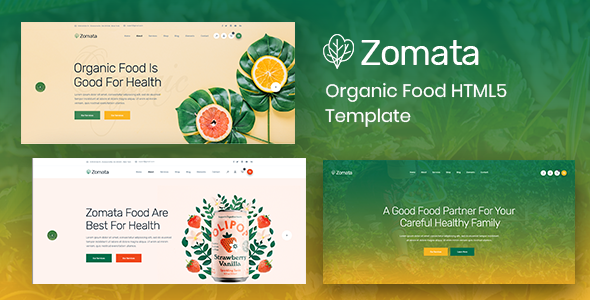 Zomata - Organic Food HTML5 Template