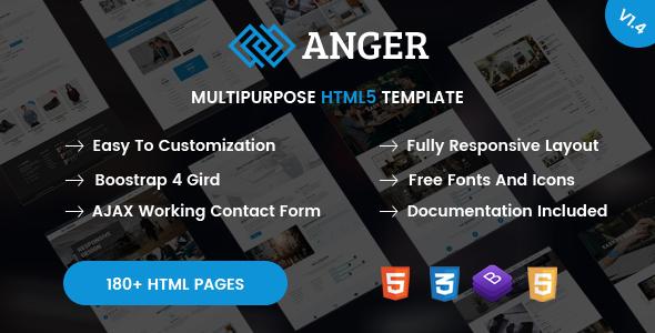 Anger - Creative Responsive Multipurpose HTML5 Template