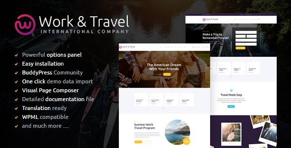 Work & Travel Company & Youth Programs WordPress Theme