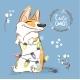 Corgi Dog Plays with Christmas Garland - GraphicRiver Item for Sale