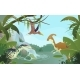 Nature Landscape with Prehistoric Dinosaurs - GraphicRiver Item for Sale
