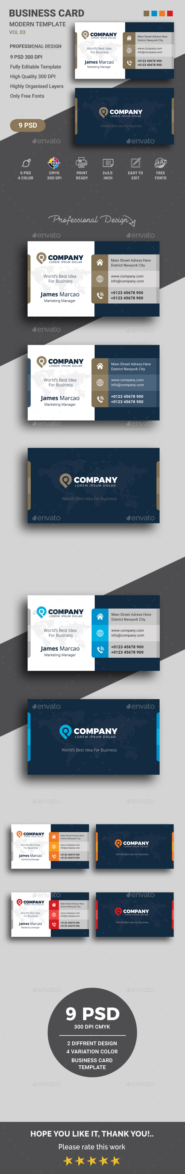 Business Card Templates Designs From Graphicriver
