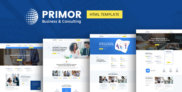 Primor - Business Consulting and Professional Services HTML Template