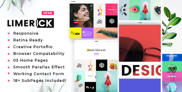 Limerick - A Colorful and Modern Multipurpose Portfolio Template
