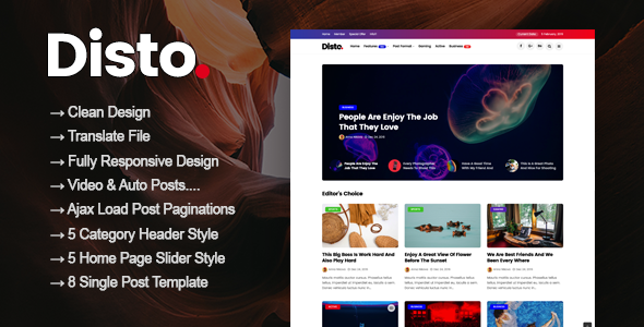 Disto - WordPress Blog Magazine Theme