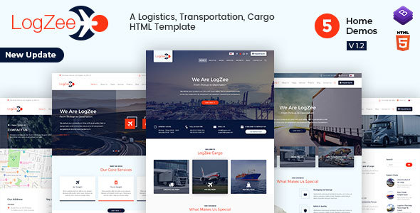 Logzee | Logistics, Transportation, Cargo HTML Template - Business Corporate