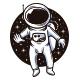 Cosmonaut Adventure Logo Template - GraphicRiver Item for Sale