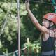 little girl make climbing in the adventure park. - PhotoDune Item for Sale