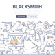 Blacksmith Doodle Concept - GraphicRiver Item for Sale
