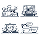 Set Management Icons - GraphicRiver Item for Sale