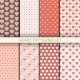 Heart Patterns Set Retro Seamless Backgrounds - GraphicRiver Item for Sale