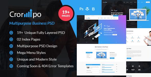 Crorpo - Multipurpose Business PSD Template