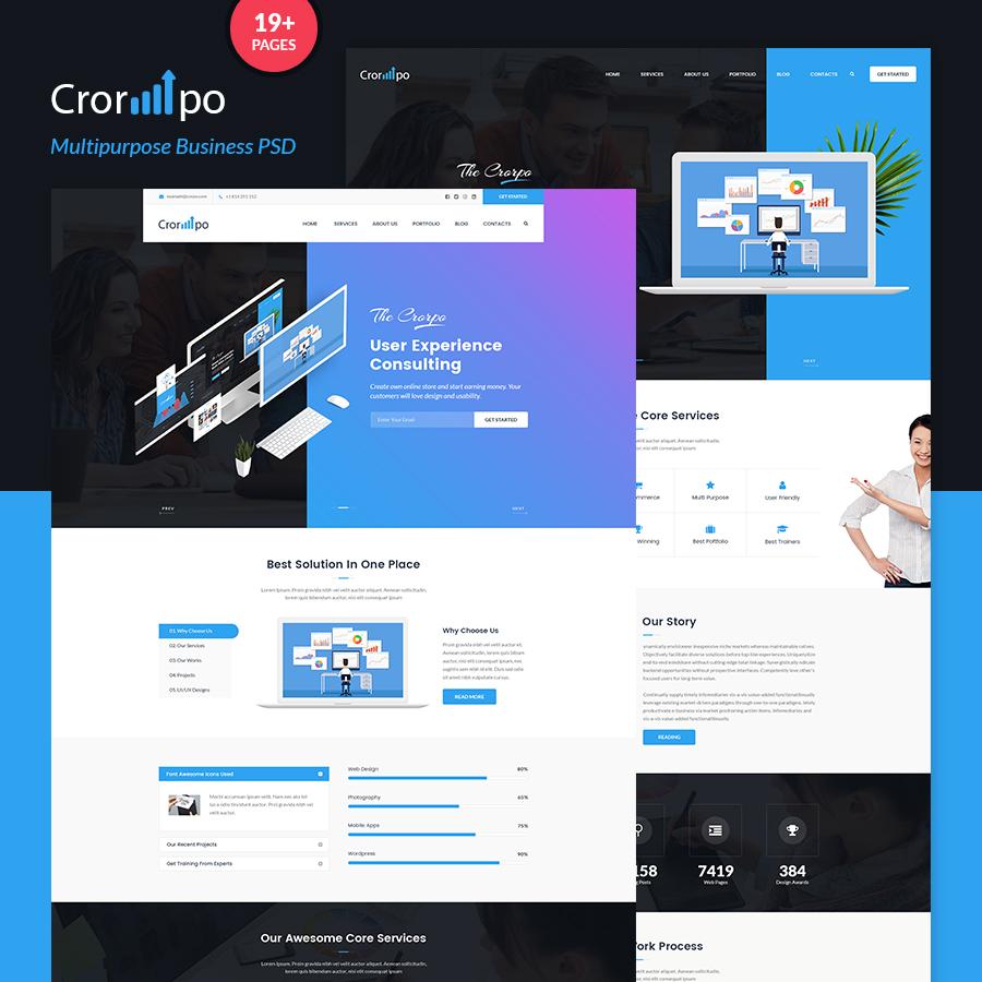 Crorpo - Multipurpose Business PSD Template - 1