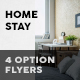 Home Stay Flyers – 4 Options - GraphicRiver Item for Sale