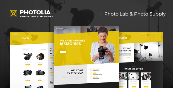 Photolia | Photo Company & Photo Supply Store WordPress Theme - Photography Creative