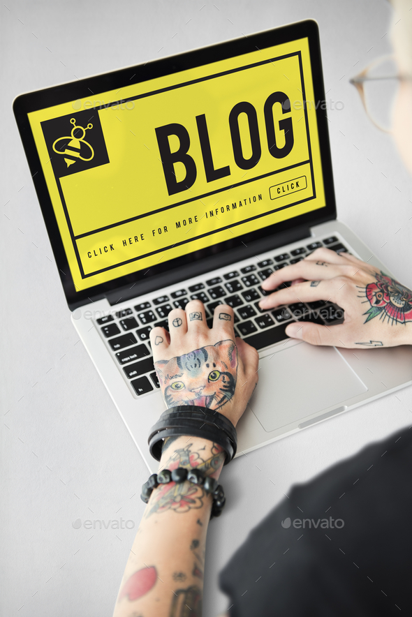 Yellow Bee Website Homepage Chat Phrases - Stock Photo - Images
