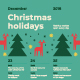 Christmas Schedule Poster Template - GraphicRiver Item for Sale