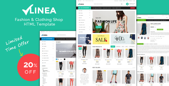 Linea - Clothing Store Responsive HTML Template