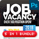 Job Vacancy Flyer Bundle - GraphicRiver Item for Sale