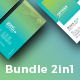 Bundle 5 Gradient Business Card - GraphicRiver Item for Sale