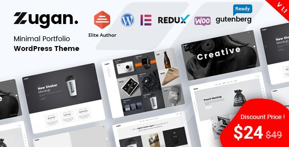 Zugan - Minimal Portfolio WordPress Theme