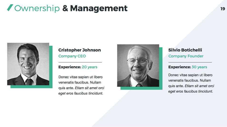 company management profile