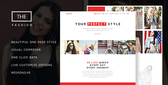 The Fashion – Model Agency One Page Beauty Theme Free Download
