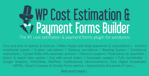 WP Cost Estimation & Payment Forms Builder - CodeCanyon Item for Sale