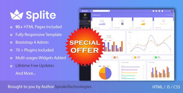 Web App admin responsive template | Bootstrap4