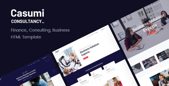 Casumi   Finance, Consulting HTML Template
