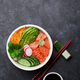 Poke bowl with salmon and vegetables - PhotoDune Item for Sale