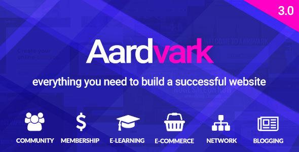 Aardvark - BuddyPress, Membership & Community Theme
