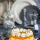 Delicious mango cheesecake decorated with whipped cream - PhotoDune Item for Sale