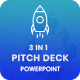 Bundle 3 in 1 Pitch Deck - Multipurpose Powerpoint Template - GraphicRiver Item for Sale