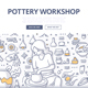 Pottery Workshop Doodle Concept - GraphicRiver Item for Sale