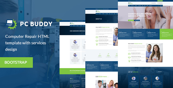 PcBuddy - Computer Repair HTML Template