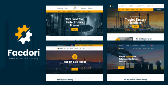 Industrial & Factory Business PSD Template by Layerdrops