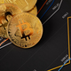 Gold bitcoin on financial charts for cryptocurrency prices - PhotoDune Item for Sale