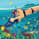 Girl Exploring the Underwater World - GraphicRiver Item for Sale