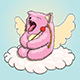Valentines Day Mythical Yawning Cupid Pink Cat - GraphicRiver Item for Sale