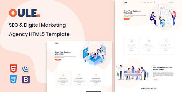Oule - SEO and Digital Marketing Agency HTML Template